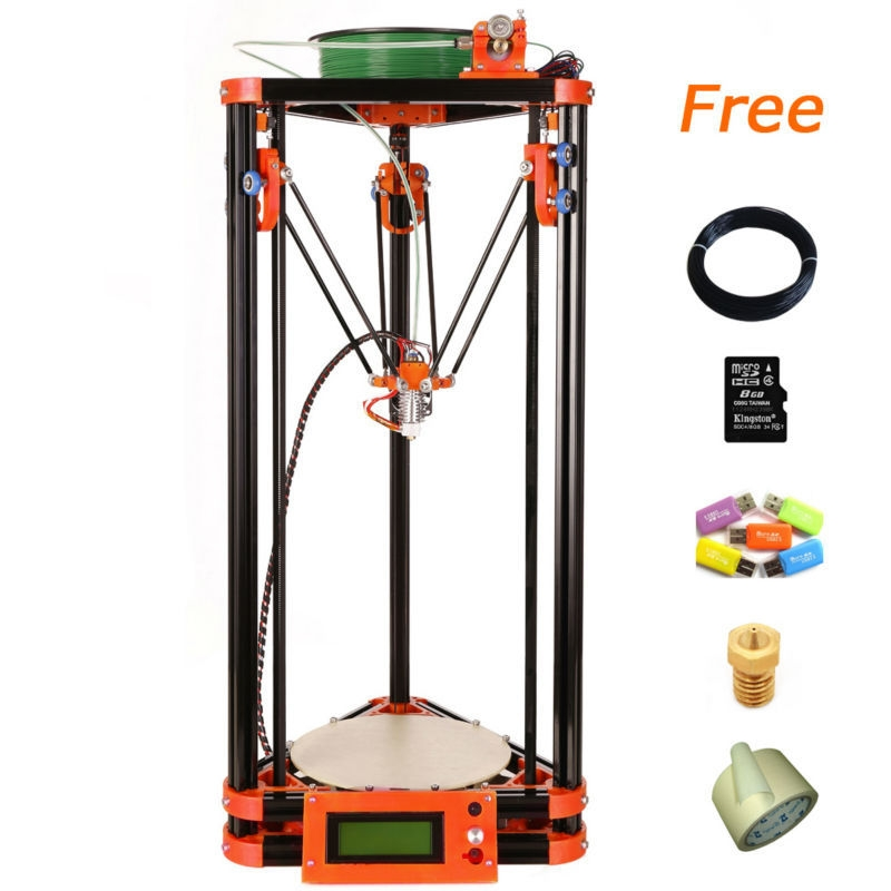 LCD Diy 3d Metal Printer, Large Printing Size With 40m Filament 8GB SD Card For Free