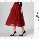 5 Chic Aliexpress Womens Skirts Popular This Season 2016/2017