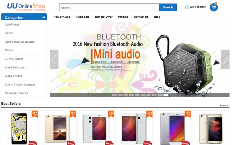 UUOnlineShop.com screenshot