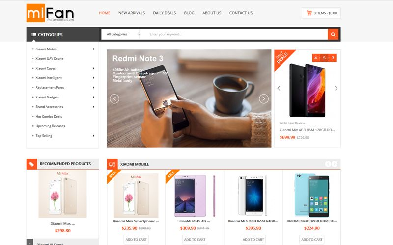 MifanWorld.com screenshot
