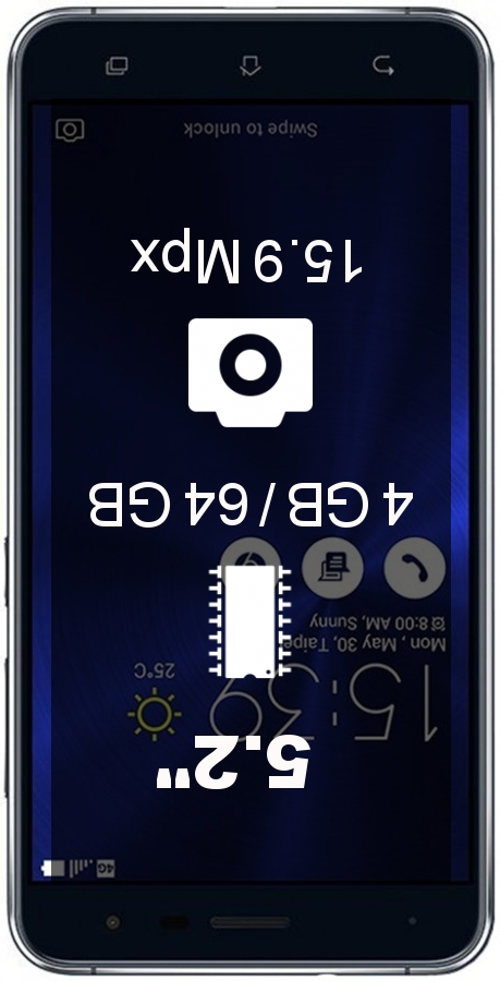 ASUS ZenFone 3 ZE520KL 4GB 64GB smartphone