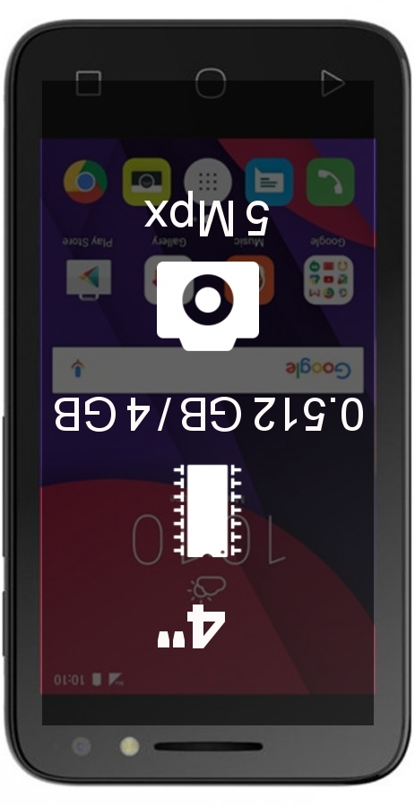 Alcatel Pixi 4 (4) 4013D 512MB 4GB smartphone
