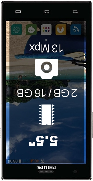 Philips Sapphire S616 smartphone