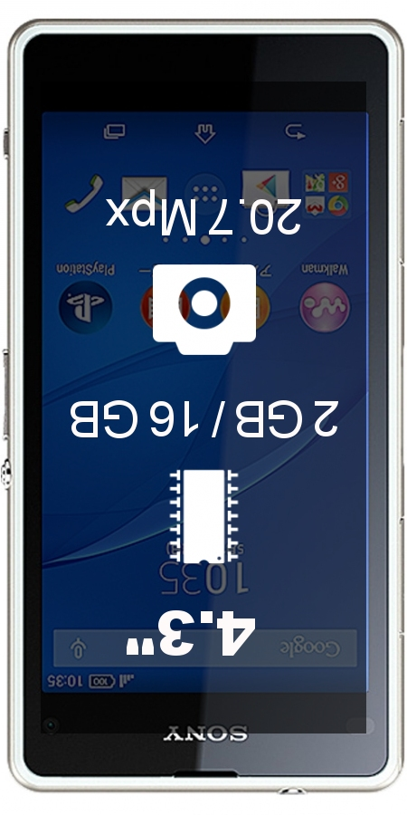 SONY Xperia J1 Compact smartphone