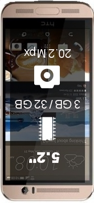 HTC One ME smartphone