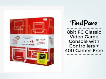 8bit FC Classic Video Game Console with Controllers + 400 Games Free