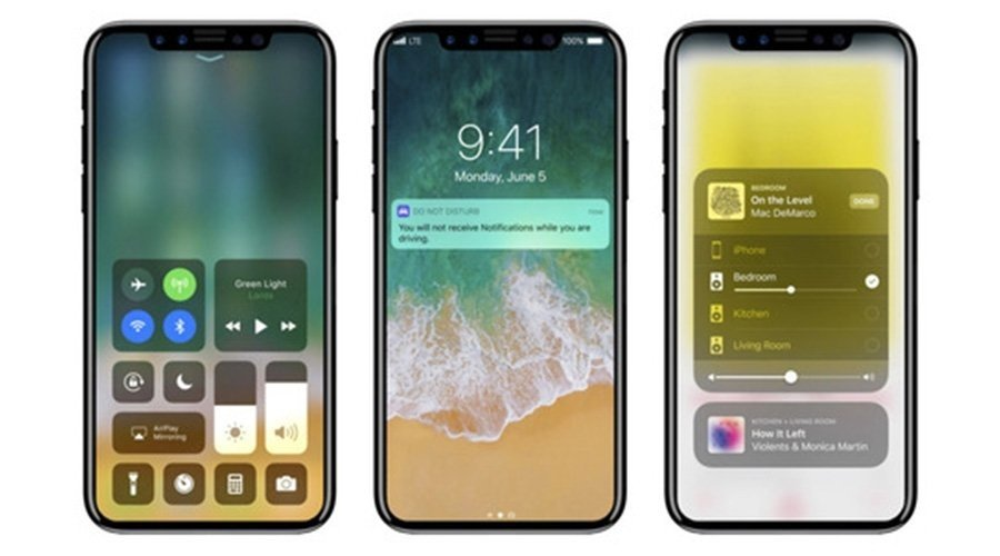 iPhone 8 New Designed:An Edge-To-Edge Display & Replaced Touch ID
