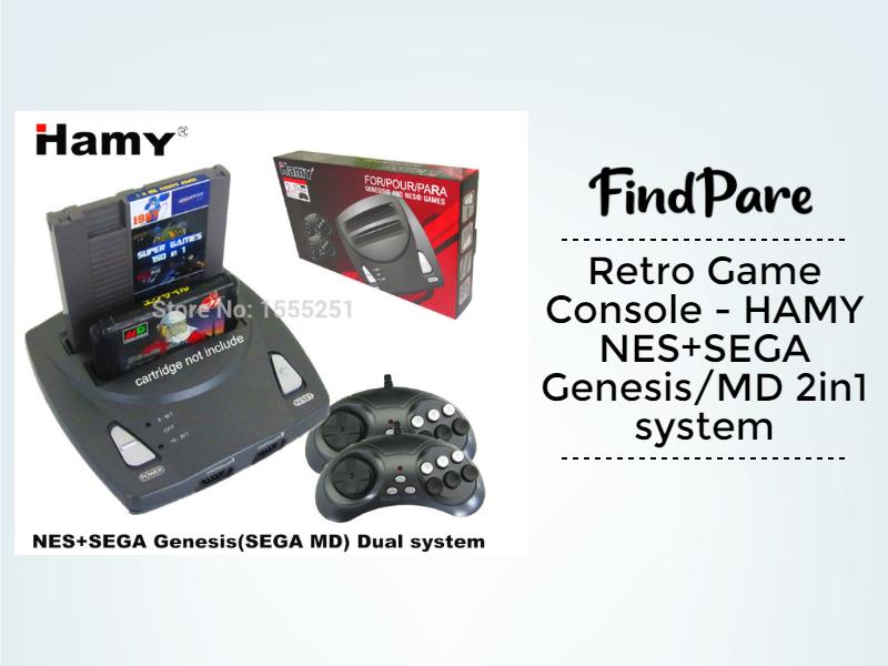 Retro Game Console - HAMY NES+SEGA Genesis/MD 2in1 system
