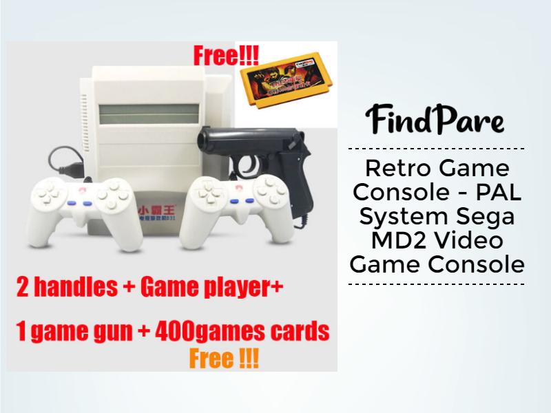 Retro Game Console - PAL System Sega MD2 Video Game Console