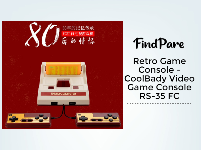 Retro Game Console - CoolBady Video Game Console RS-35 FC