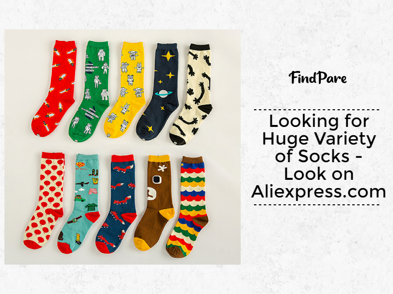 Looking for Huge Variety of Socks - Aliexpress.com is what you need!