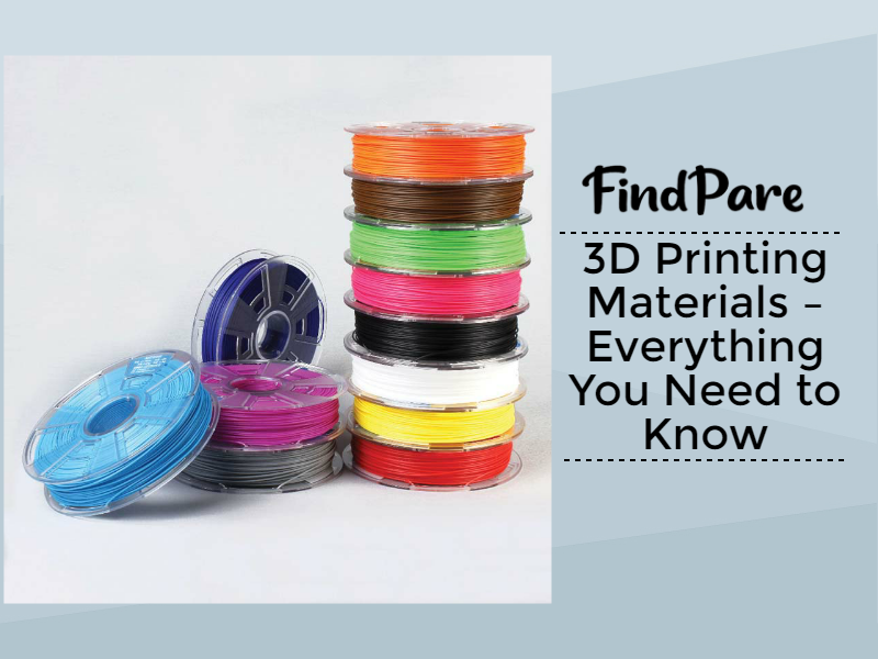 3D Printing Materials – Everything You Need to Know